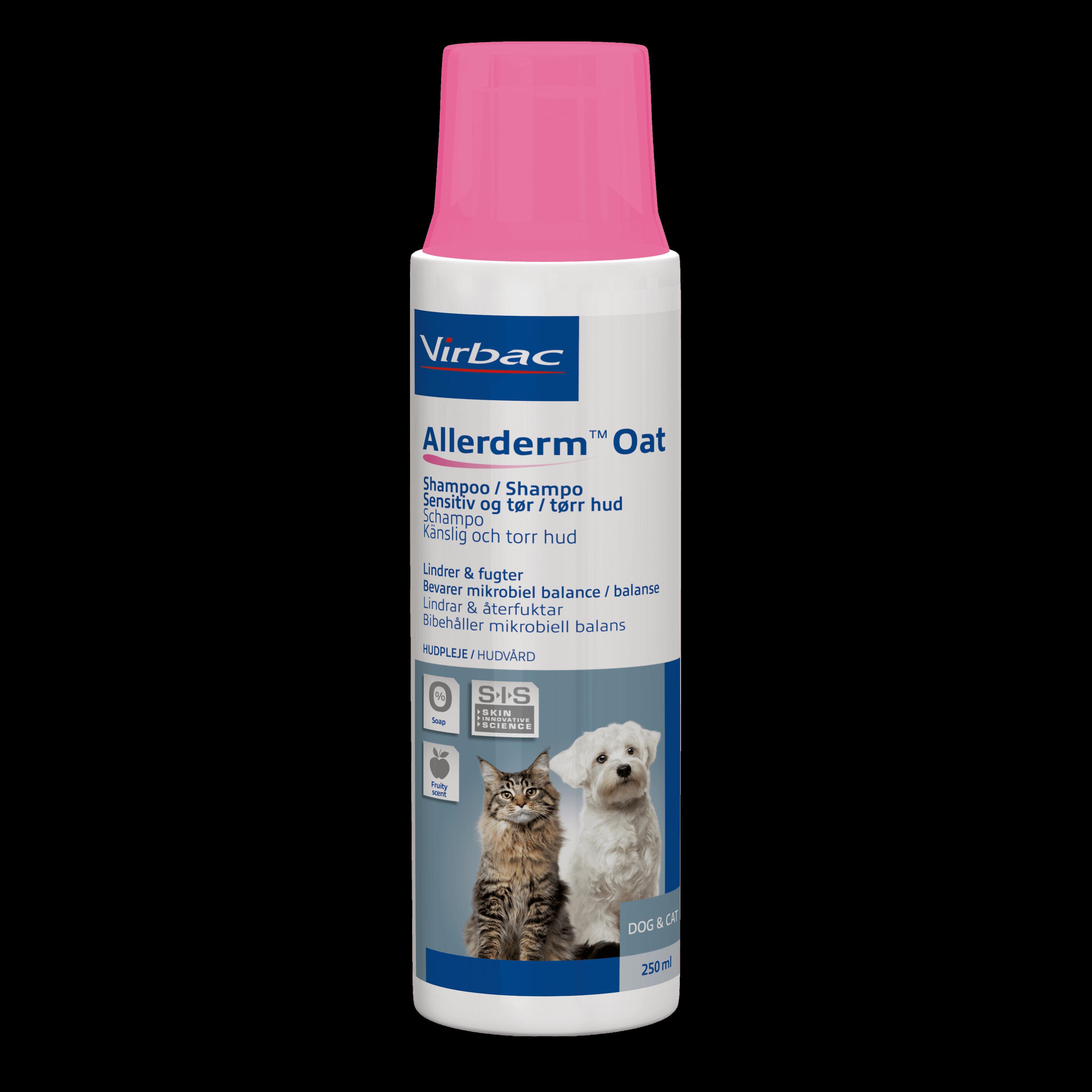 Shampoo til følsom hud til hund og katte